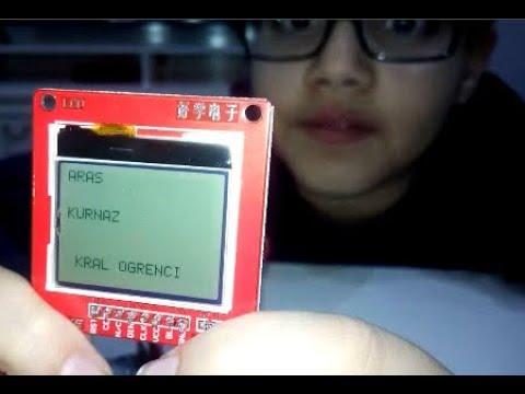 Arduino çalışmalarım-4 || arduino&LCD ad soyad nasıl yazılır? || zeka oyunları