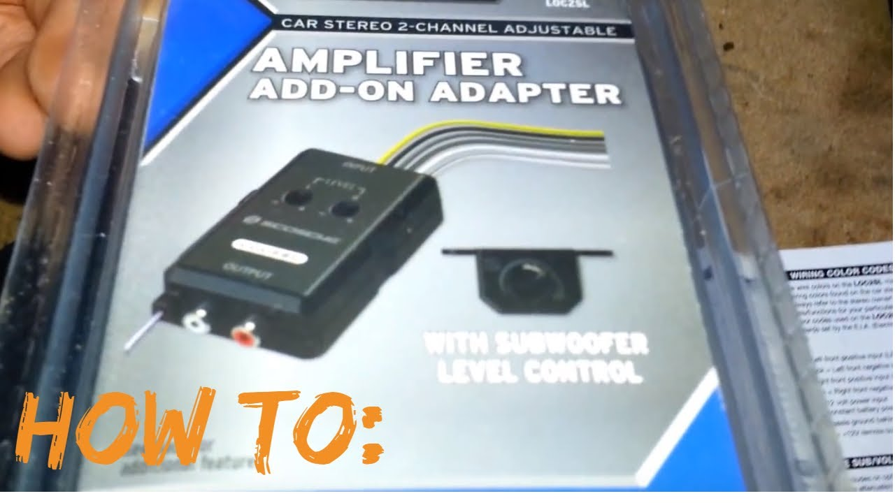 hight resolution of how to install a sub and amp with a factory radio 05 silverado youtube