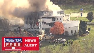 Person Found Shot outside Burning NJ Mansion - LIVE COVERAGE
