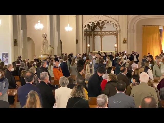 Panorámica de Santa Maria para la Processó de l'Encontre.