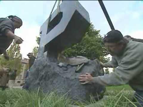 Purdue dedicates Unfinished Block P sculpture