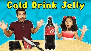 Kids Making Cold Drink Jelly | Easy Coca Cola Jelly At Home (Children's Day Special )