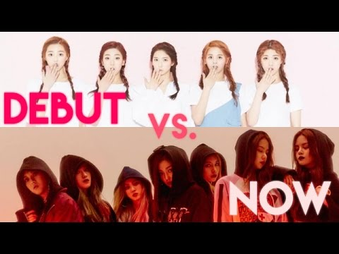 K-Pop Girl Groups - Debut vs. Now - Live Stages