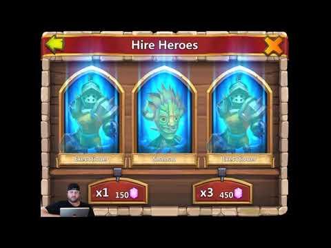 Rolling 60,000 Gems for NEW Hero Professor Ribbit!