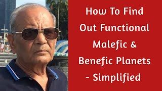 How To Find Out Functional Malefic & Benefic Planets - Simplified By V P Goel