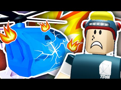 Thumbnail: CRASHED MY NEW HELICOPTER!! | Roblox Plaza