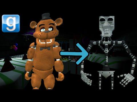 Garry's Mod FREDDY LOST HIS SUIT! (Gmod Sandbox w/ Endoskeleton mod)