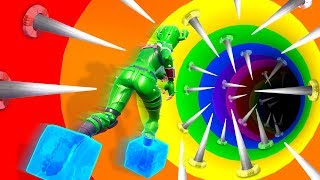 HARDER THAN CIZZORS DEATH RUN! (1v1 Impossible Rainbow Fortnite Slide Challenge)