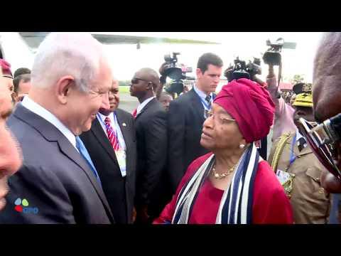 PM Netanyahu Arrives in Liberia