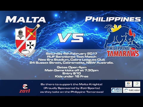 Philippines V Malta RUGBY LEAGUE TEST 2nd Half