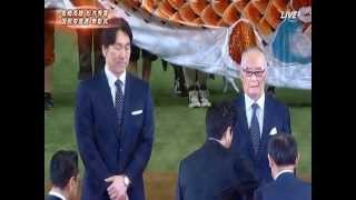 長嶋茂雄、松井秀喜W国民栄誉賞・始球式2013/05/05東京ドーム