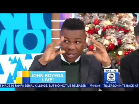 [HD] John Boyega Interview On GMA 11/29/2017