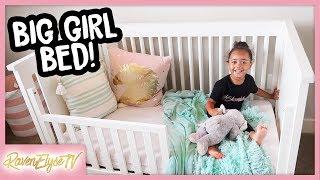 No More Crib! Ziya's Toddler Bed   MOM VLOG work at home mom