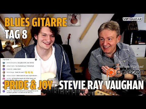 "Fortgeschrittenenkurs Blues Tag.8 - wir lernen ""Pride and Joy"" - Stevie Ray Vaughan"