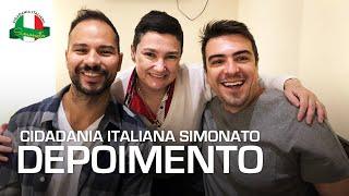 Cidadania Italiana Simonato depoimento: Rick e Márcio, dois novos italianos e amigos