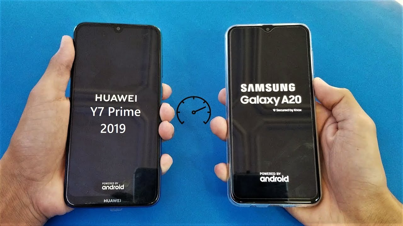 Samsung Galaxy A20 vs Huawei Y7 Prime (2019) - Speed Test! - (HD)