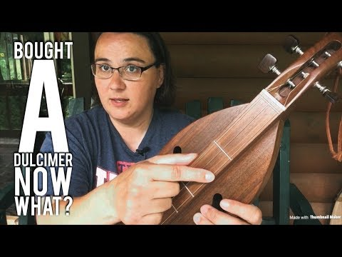 Intro to mountain dulcimer, tuning, strumming, first song! Mountain dulcimer lessons