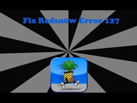 How to fix redsn0w error 127