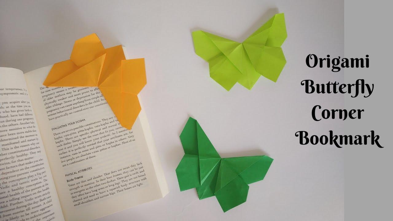 Easy Origami Bookmark Corner - How to make a Corner Bookmark DIY - YouTube | 720x1280