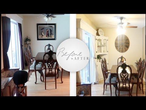 Budget Farmhouse Dining Room Makeover! + Fall Decor!