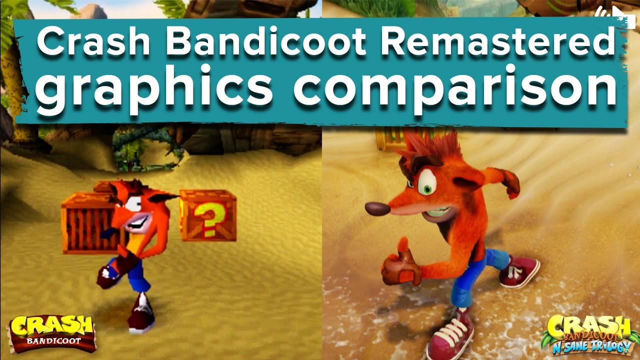 crash bandicoot remastered graphics comparison ps4
