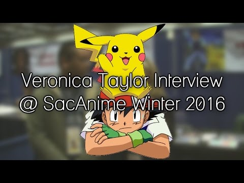 Veronica Taylor Interview (Ash Ketchum from Pokémon) @ SacAnime Winter 2016