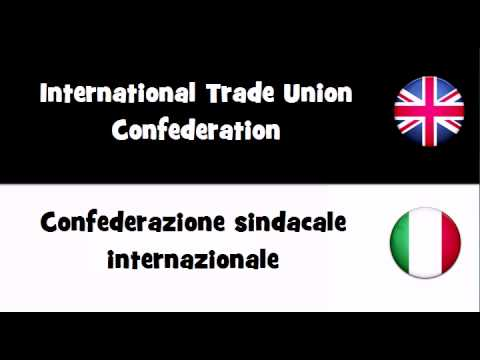 VOCABULARY IN 20 LANGUAGES = International Trade Union Confederation