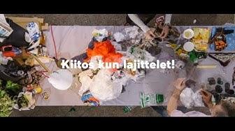 Kierrätys alkaa lajittelusta