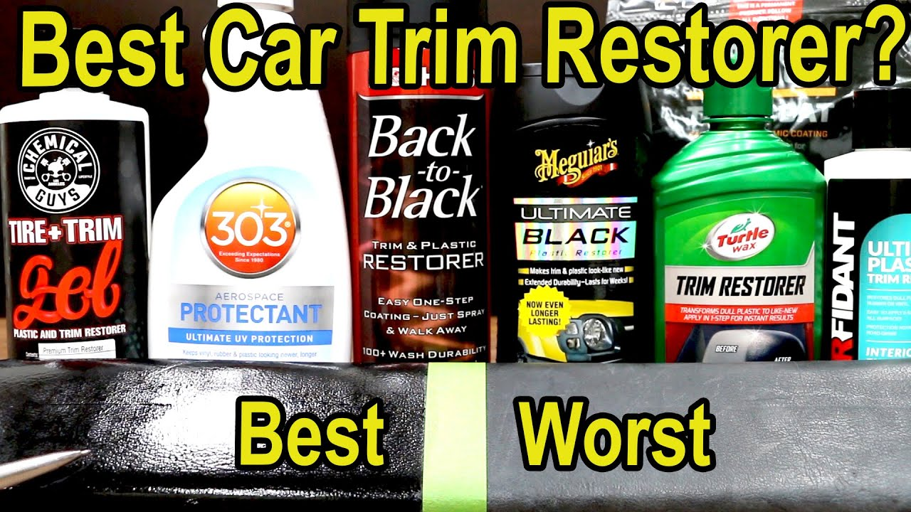 Best Plastic Car Trim Restorer? Let's find out! 303 Protect, Mothers, Turtle Wax, Meguiars, CeraKote