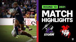 Storm v Dragons Match Highlights   Round 10 2021   Telstra Premiership   NRL