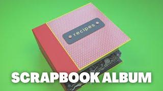 DIY Recipe Scrapbook with Recipe Organizer