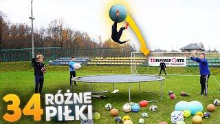 Strzały z ogromnej trampoliny 34 różnymi piłkami! | PNTCMZ