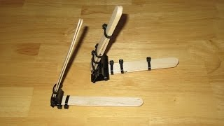 How To Make A Powerful Binder Clip Mini Catapult That Can Shoot Up To 100 Feet