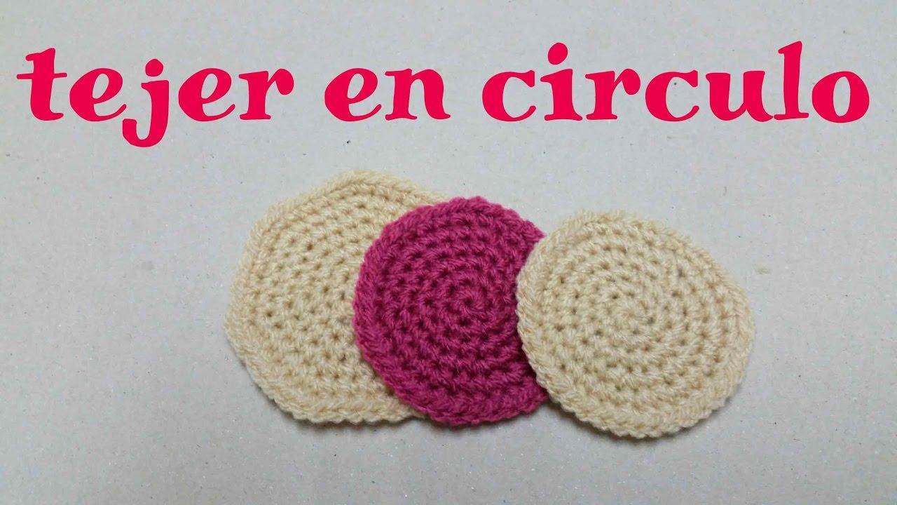 CROCHET Como tejer en círculo - YouTube
