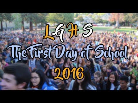 Los Gatos High School: First Day of School