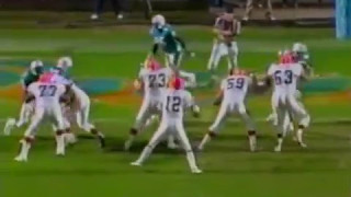 1988 Wk 15 Miami Upsets Cleveland 38-31; Highlights With Radio Call