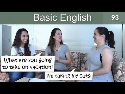 """Lesson 93 ????? Basic English with Jennifer ?????????????? """"Be Going To"""" (grammar and pronunciation)"""