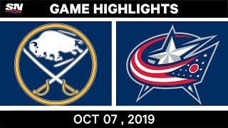 NHL Highlights | Buffalo Sabres vs. Columbus Blue Jackets - Oct. 07, 2019