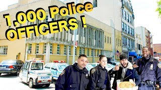 Buying Pizza For 1000 Police Officers On Thanksgiving !!