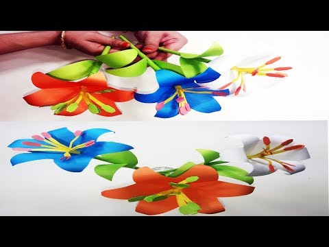 how-to-make-eye-catching-lily-paper-flower-|-diy-lily-paper-flower-ideas-|-flower-craft-for-kids