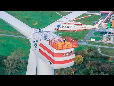 Incredible Biggest Wind Turbine Farm Installation Technology. Amazing Giant Factory Machines Working