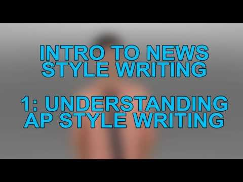 The Broadside Training Video Part 1: Writing in AP Style