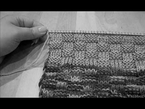 Вязание рогожка спицами