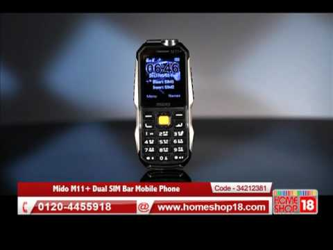 Homeshop18.com - Mido M11+ Dual SIM Bar Mobile Phone