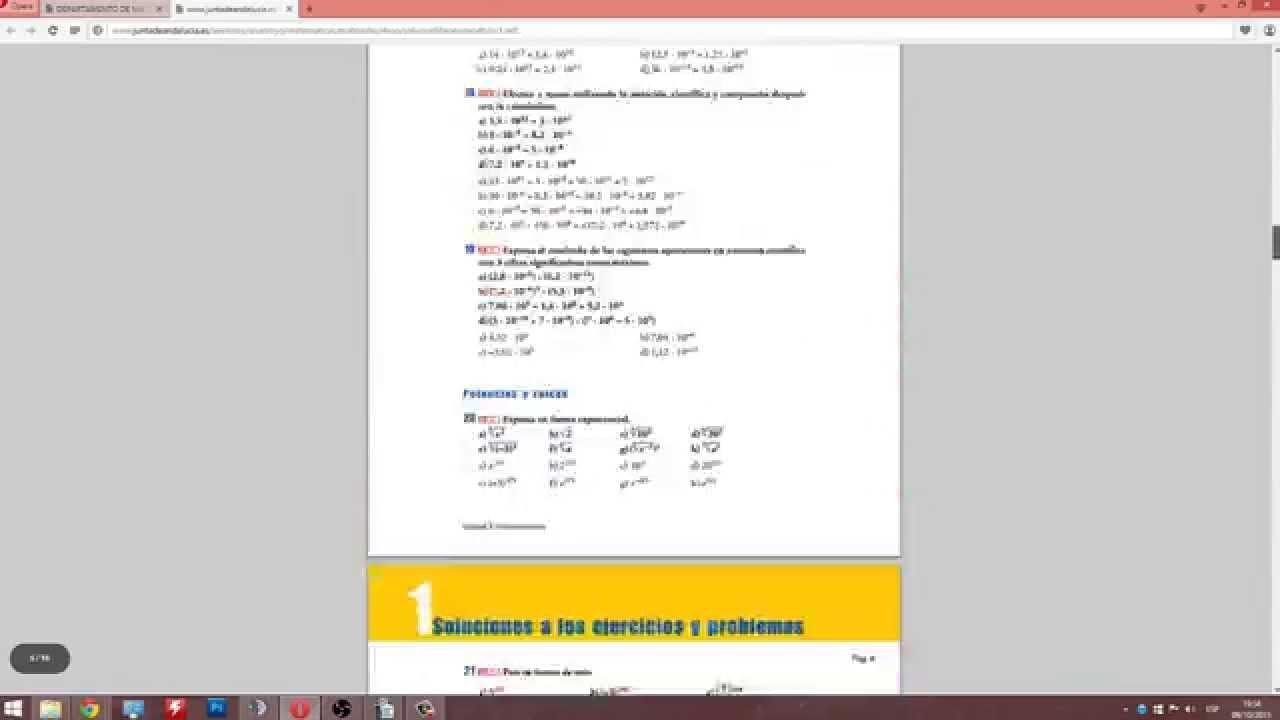 Solucionario | Libro de matemáticas | 1º BACH y 4º ESO | Editorial ANAYA