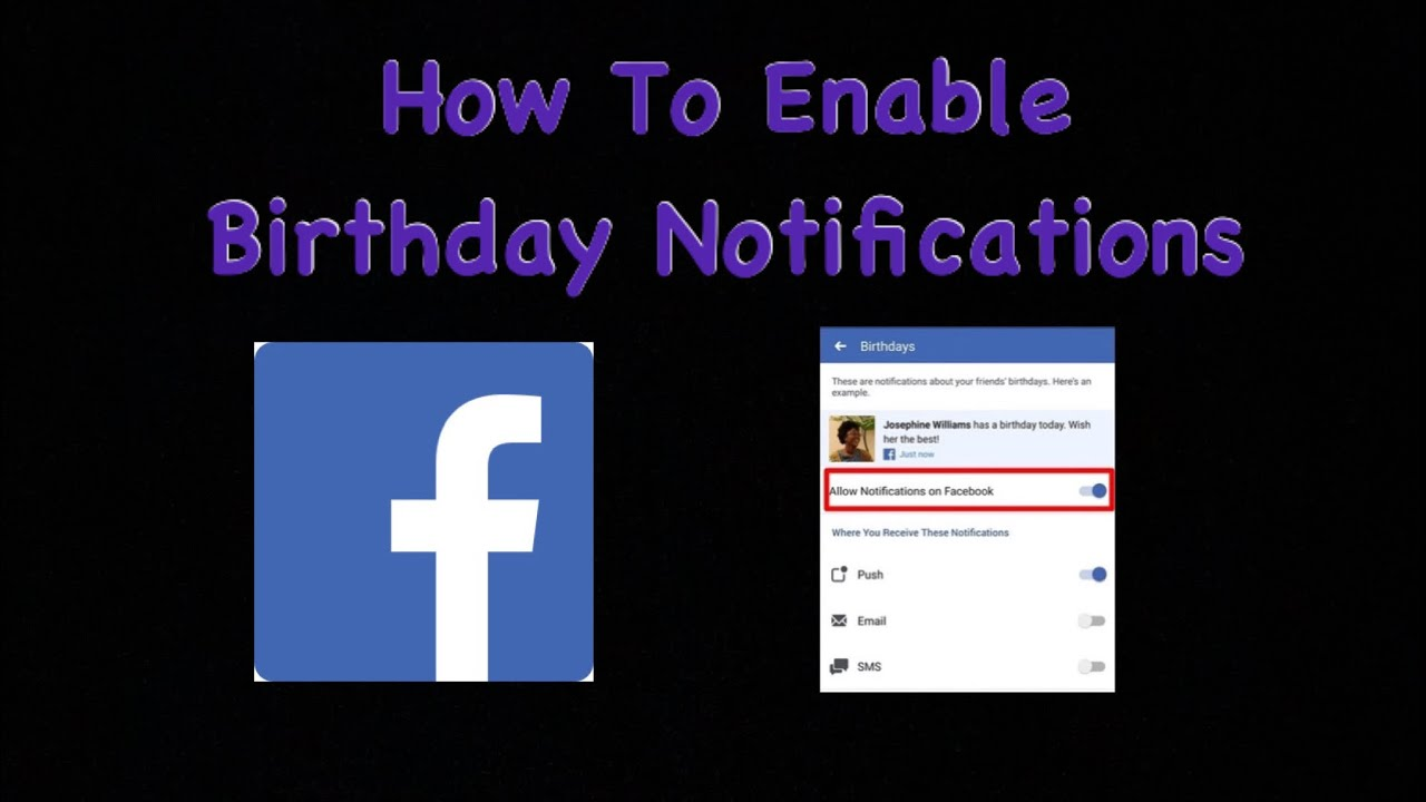 How To Enable Facebook Birthday Notifications Youtube
