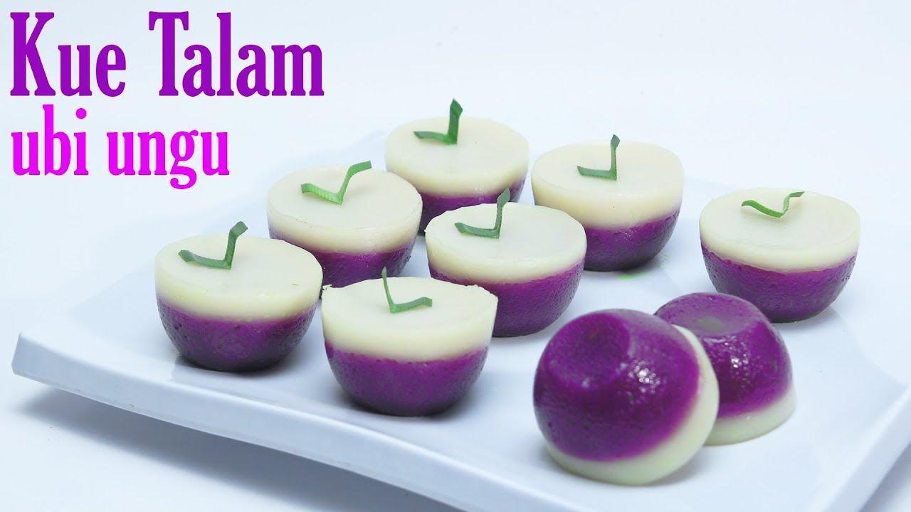 Cara Membuat Kue Talam Ubi Ungu