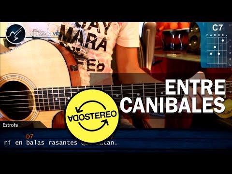 "Como tocar ""Entre Caníbales"" de Soda Stereo - Guitarra (HD) Tutorial COMPLETO - christianvib"