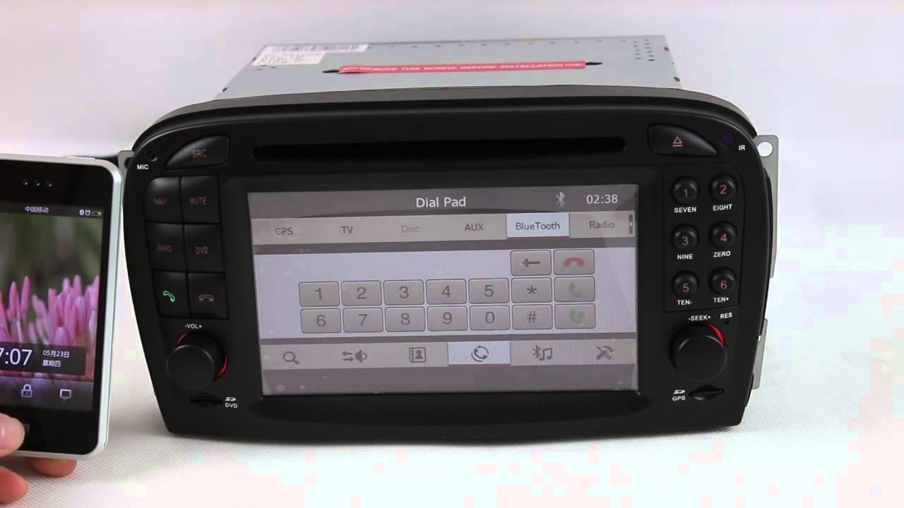 2 din mercedes benz sl r230 gps navigation system radio for Mercedes benz navigation system update