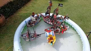 Lego Pirate Ship Float Test! Who would win?